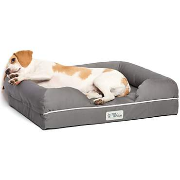 PetFusion Ultimate Orthopedic Memory Foam Gray Dog Bed & Lounge