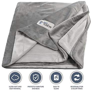 PetFusion Microplush Pet Gray Blanket