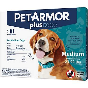 PetArmor Plus Flea & Tick Squeeze-On Dog 23-44 lbs