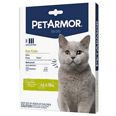 PetArmor Flea & Tick Squeeze-On For Cats Over 1.5 lbs
