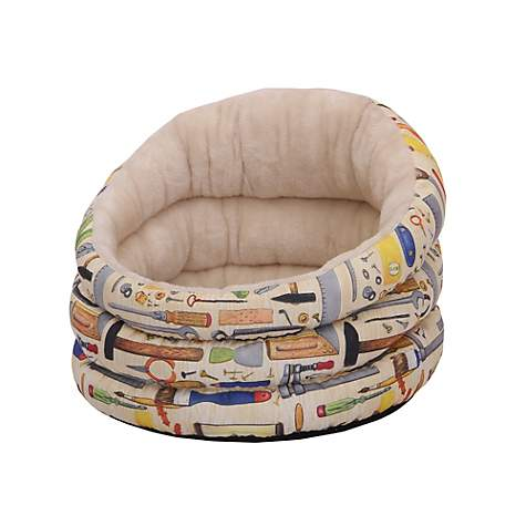 PetPals Group Harrison Canvas Fleece Pet Bed