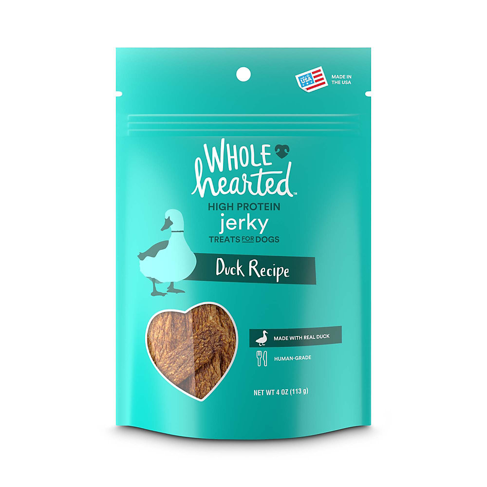 WholeHearted Duck Recipe Jerky Dog Treats, 4 oz.