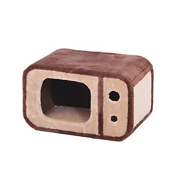 PetPals Group T-Vee Fleece And Sisal Tv Style Cat Condo With Scratcher
