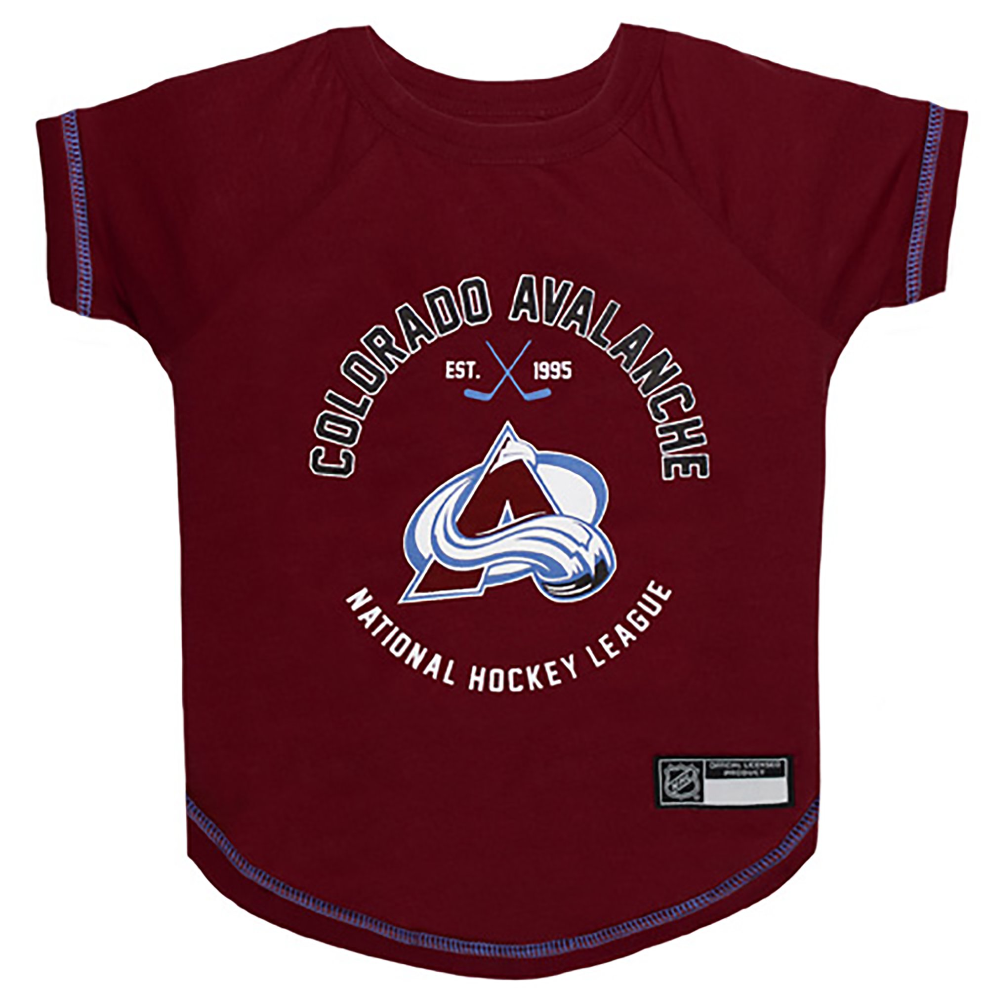 detailed look 664b2 73b5e Pets First Colorado Avalanche Dog T-Shirt, X-Small | Petco