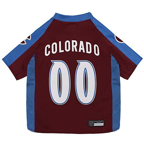 buy online 511d1 a731a Pets First Colorado Avalanche Dog Jersey, X-Small