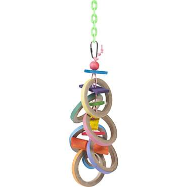 Super Bird Creations Olympic Rings Hanging Bird Toy