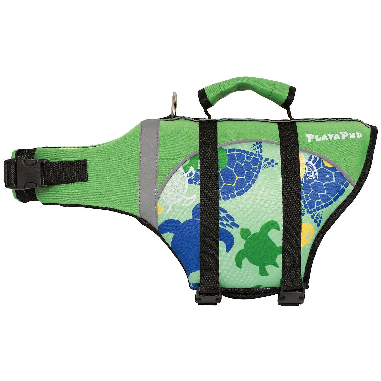 Image of Playa Pup Pet Flotation Vest Green Tuga
