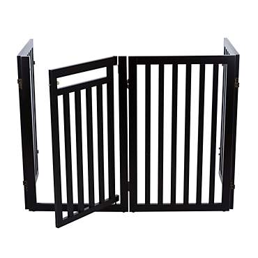 Trixie Dog Barrier Four Panel Espresso Gate