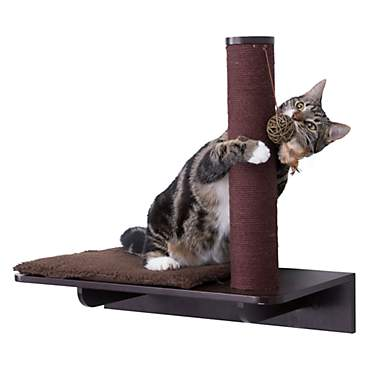 Trixie Wall Mounted Relaxing Base with Scratching Post Espresso Cat Furniture