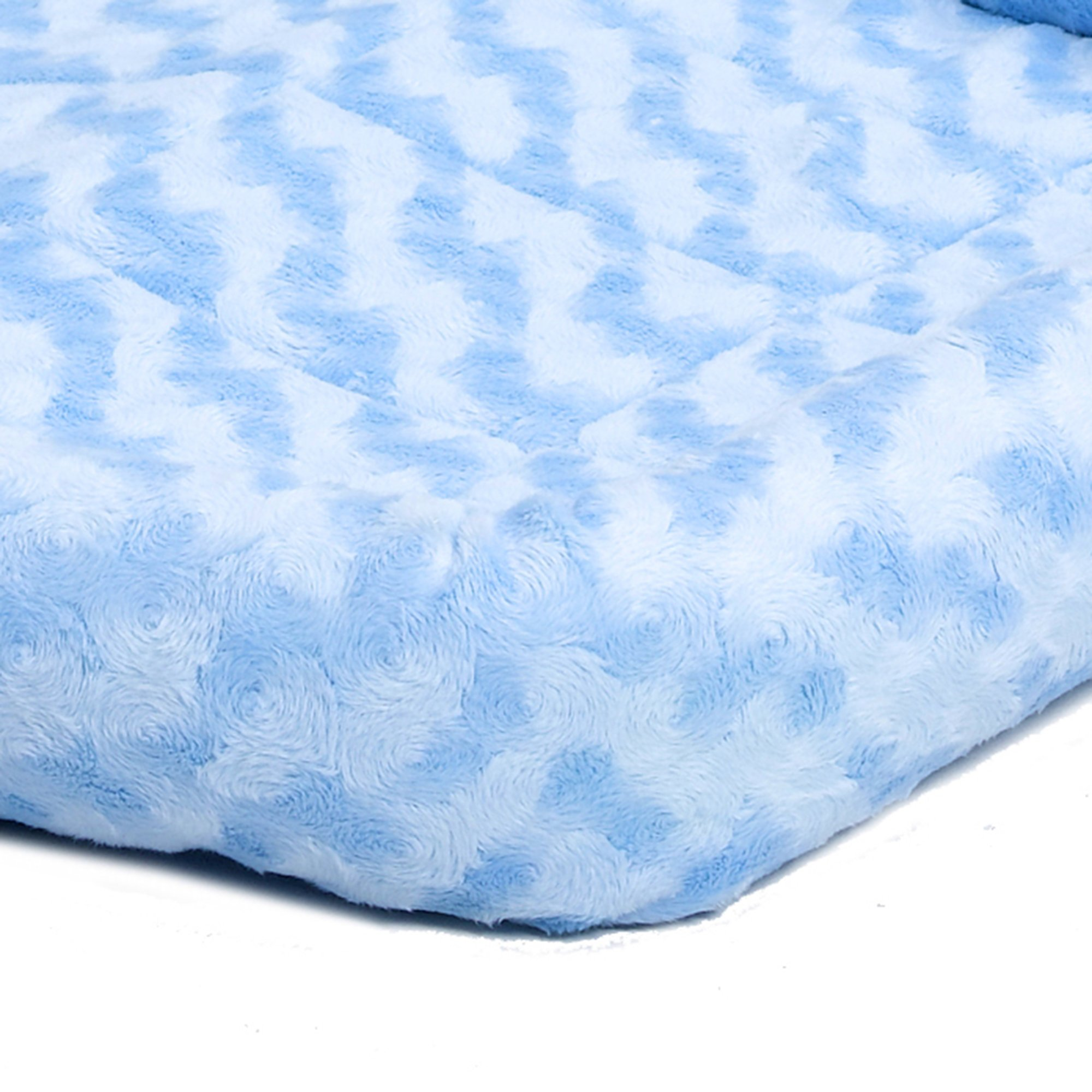 Midwest-Quiet-Time-Bolster-Blue-Dog-Bed miniatuur 4