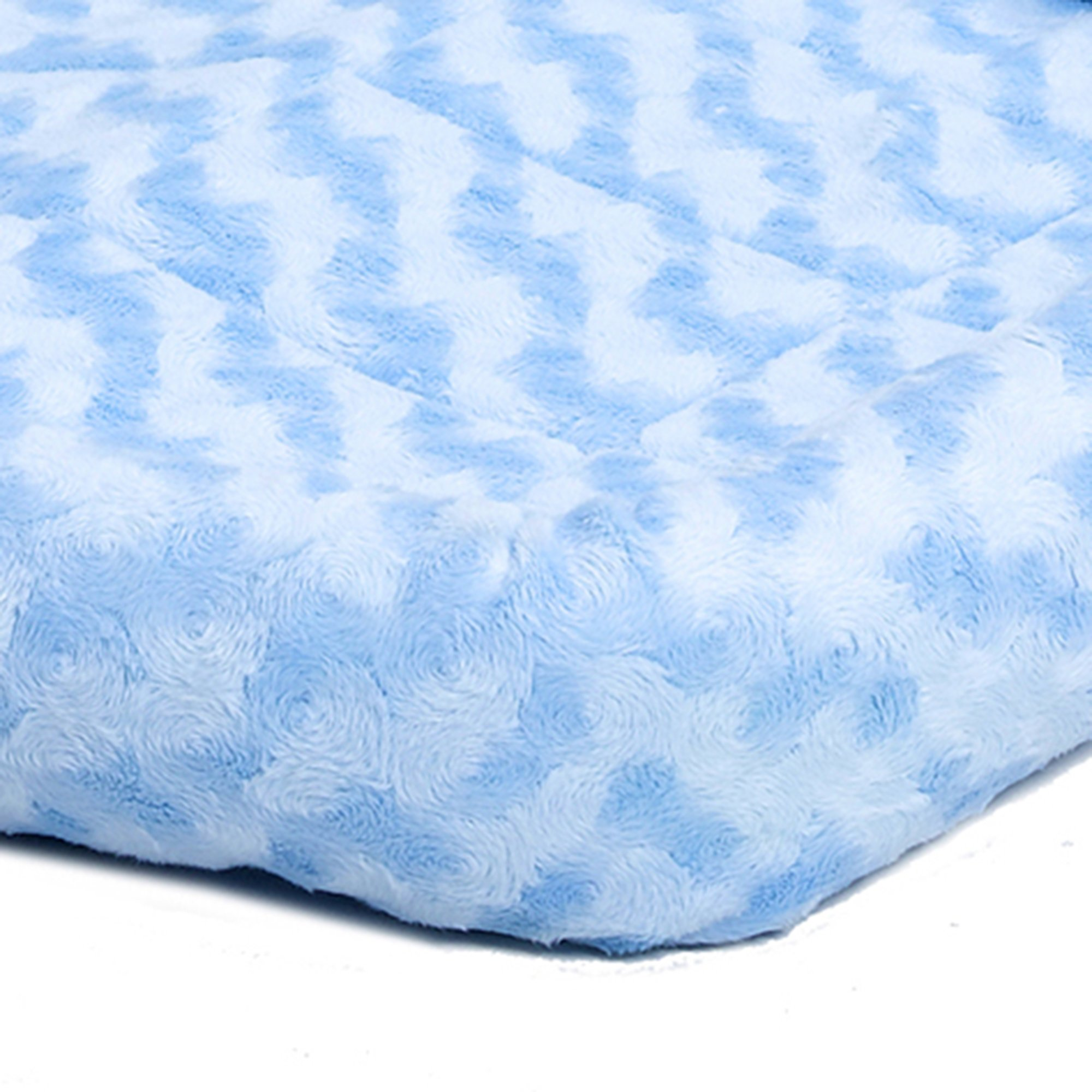 Midwest-Quiet-Time-Bolster-Blue-Dog-Bed miniatuur 15