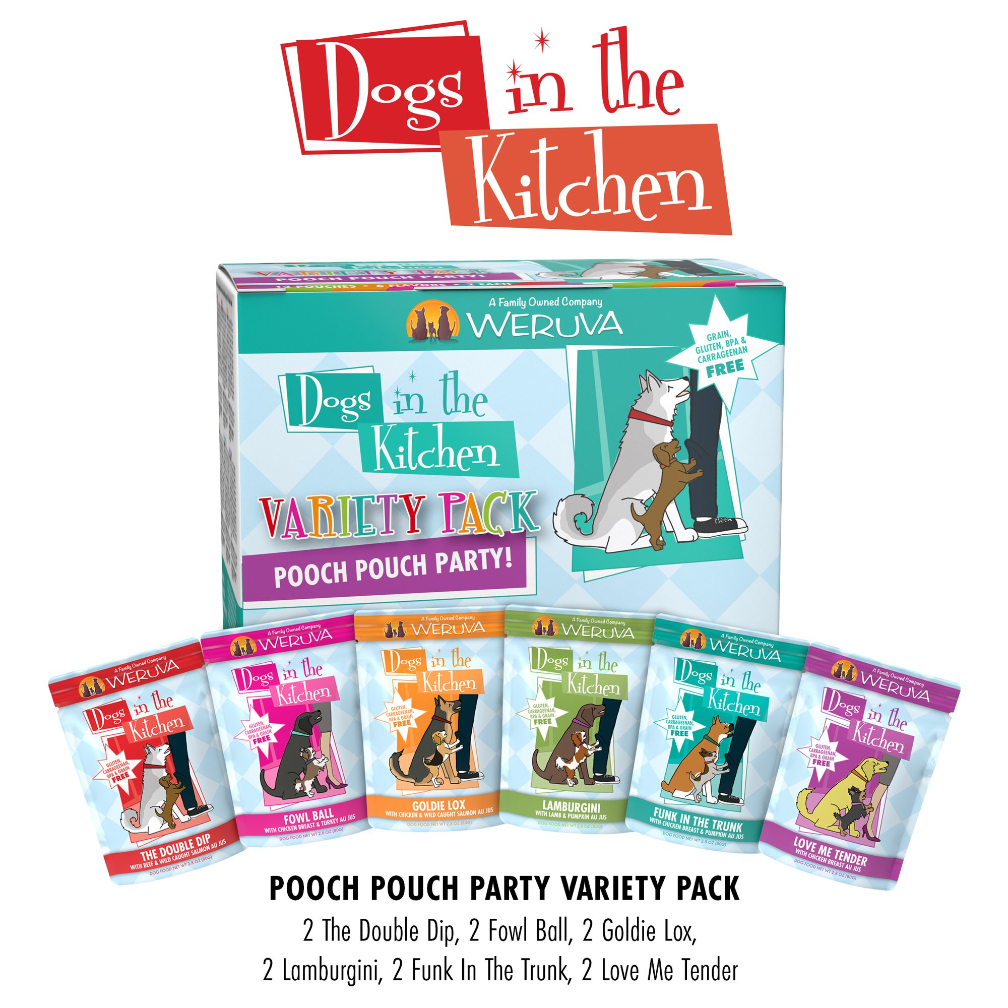 Dogs in the Kitchen Pooch Pouch Party! Variety Pack Wet Dog Food | Petco