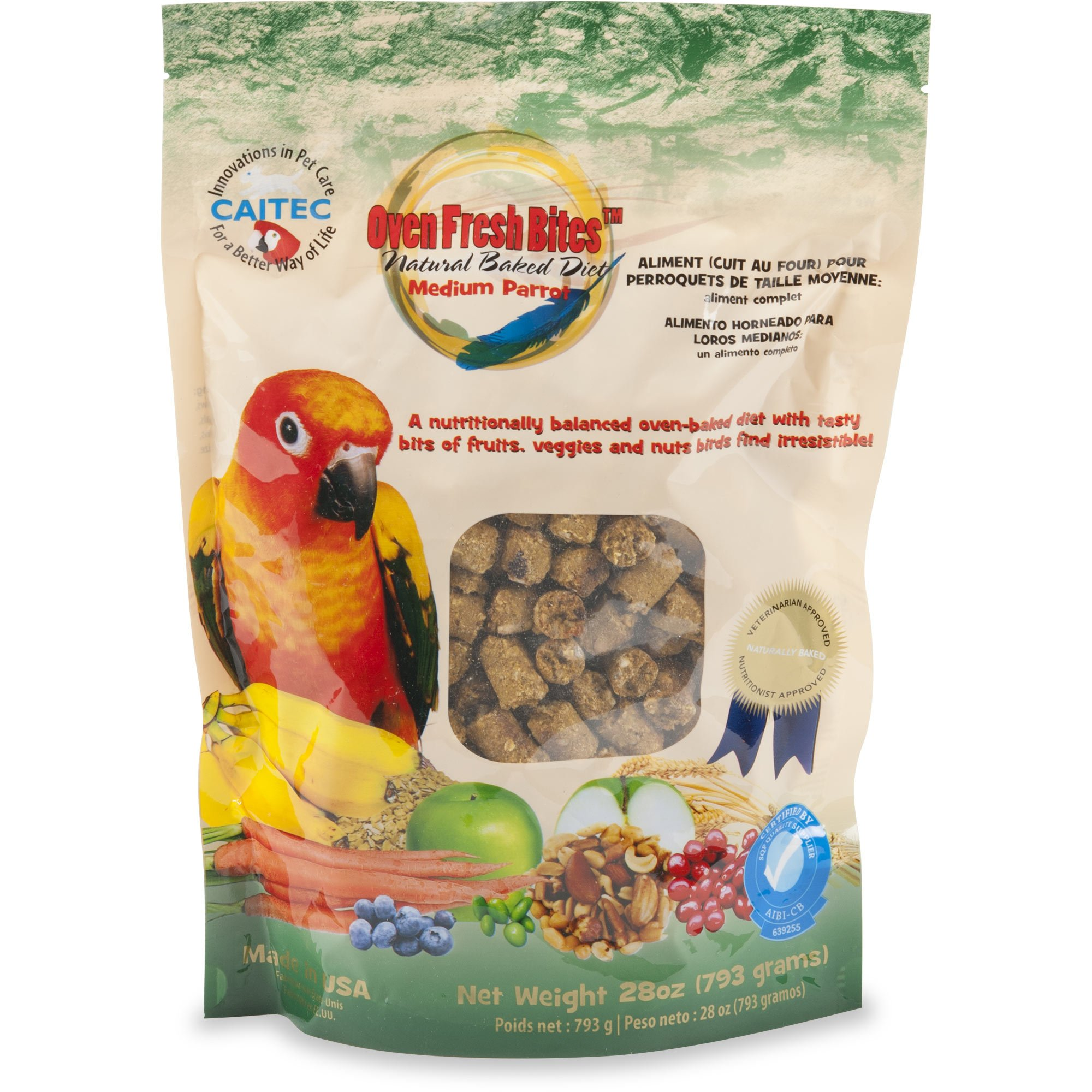 Caitec Oven Fresh Bites Natural Baked Diet for Medium Parrots Bird Food    Petco