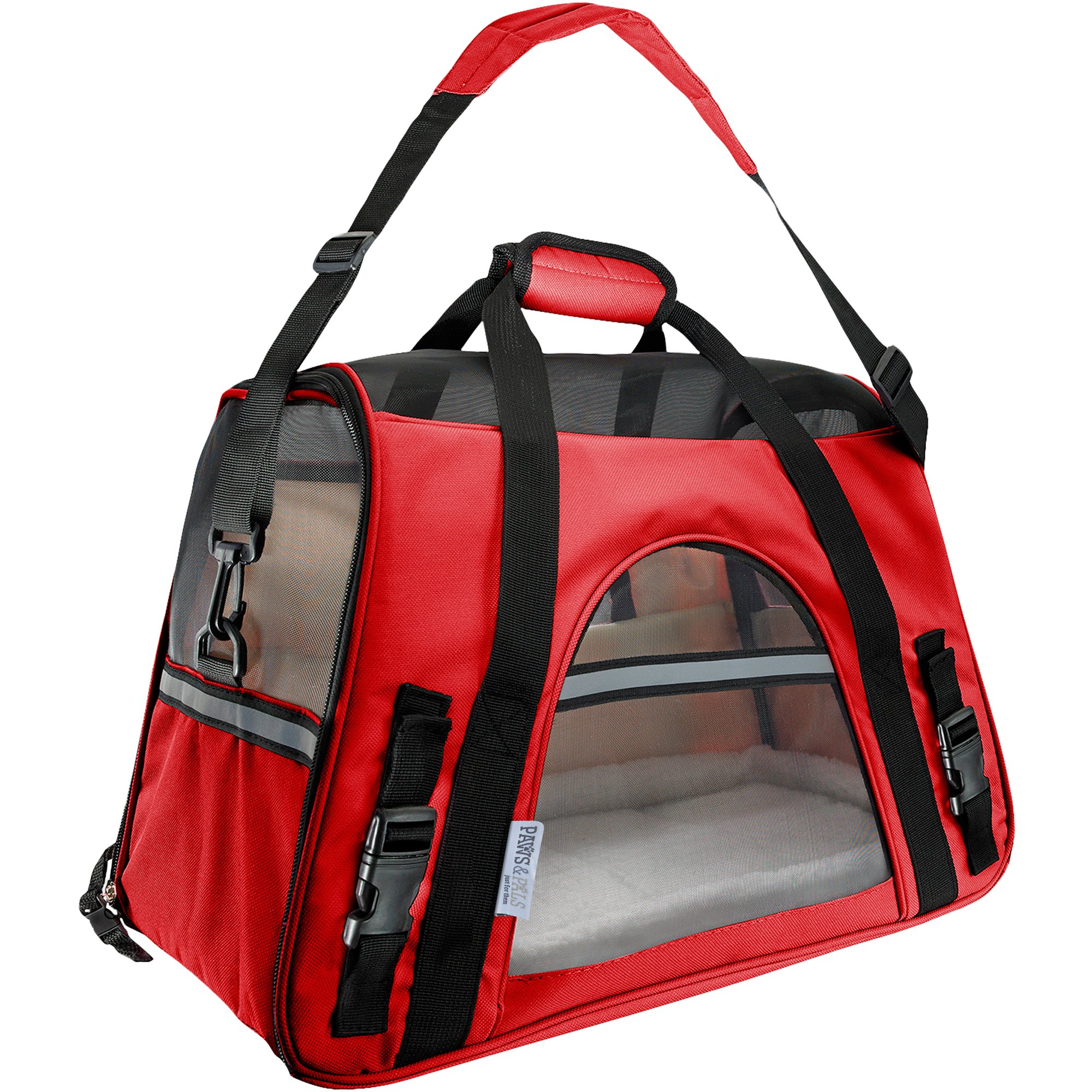 6b5ab2dfdfaf Paws & Pals Red Pet Carrier | Petco