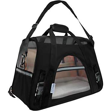 Paws & Pals Black Pet Carrier