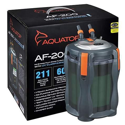 Aquatop AF200 Auto-priming Canister Filter w/UV, 211 gph