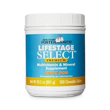 Drs. Foster and Smith Lifestage Select Premium Adult Dog Multivitamin & Mineral Supplement