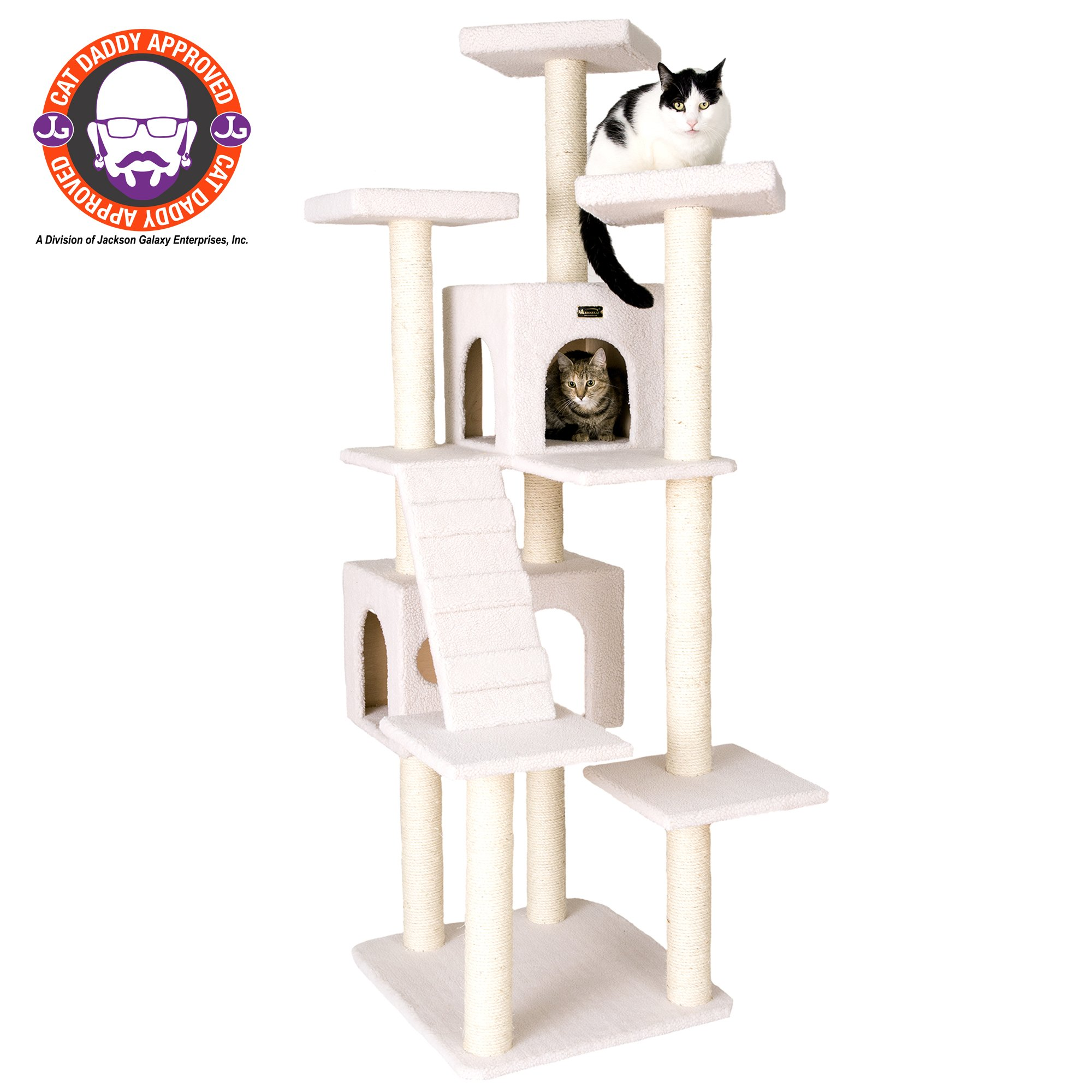 "Armarkat Classic Model B7701 Cat Tree, 77"" H, 36 In, Off White"