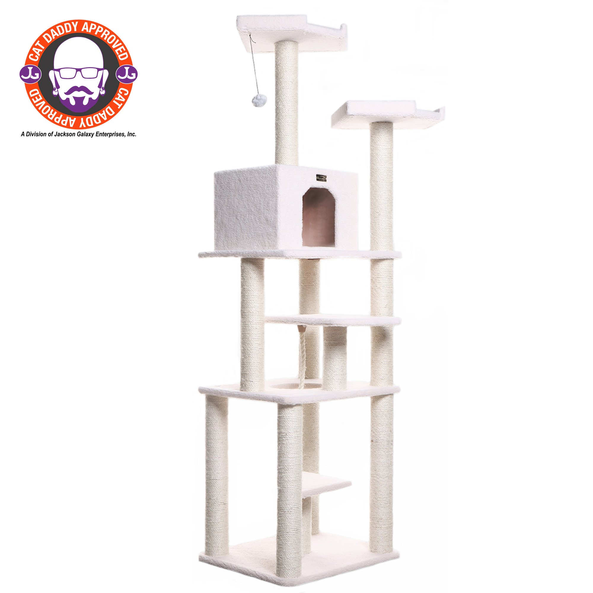 "Armarkat Classic Model B7801 Cat Tree, 78"" H, 32 In, Off White"