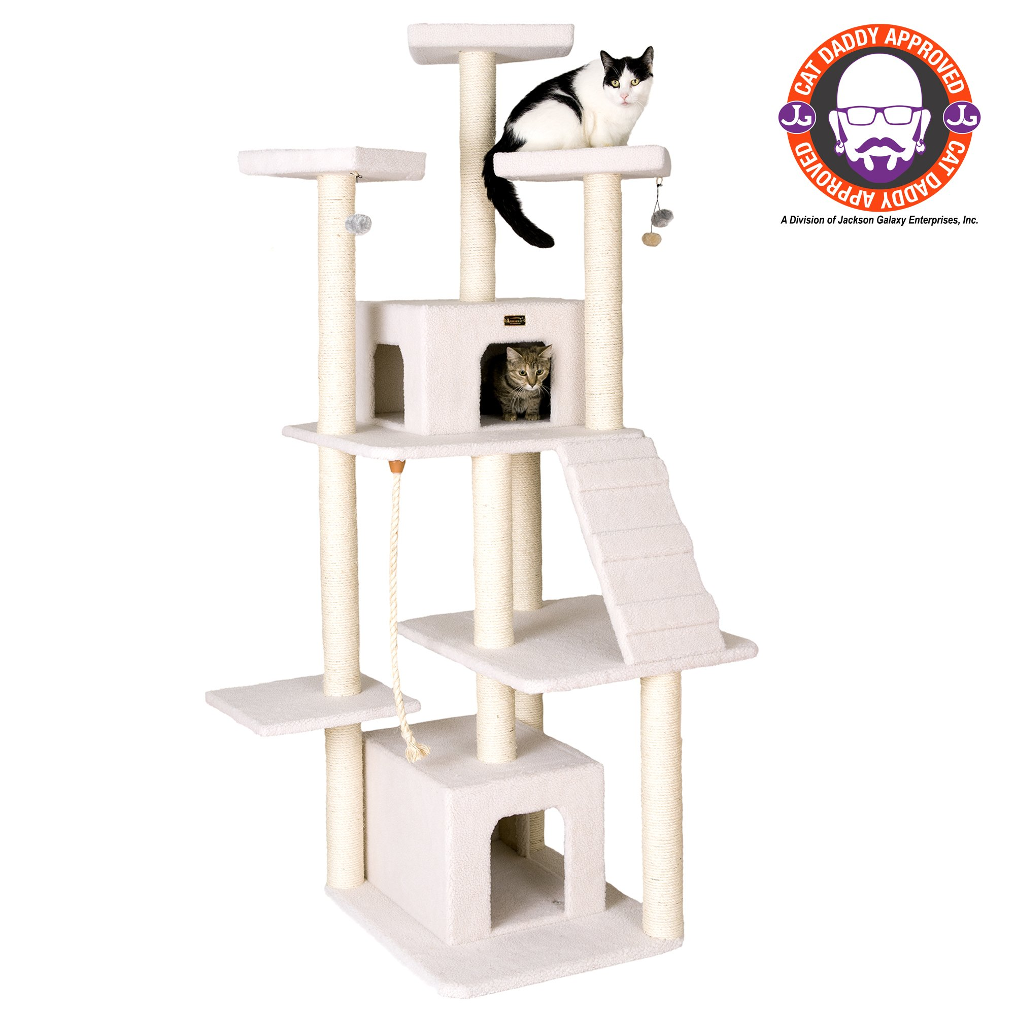 "Armarkat Classic Model B8201 Cat Tree, 82"" H, 45 In, Off White"