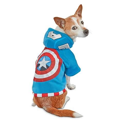 2ca960ffe50 Marvel Avengers Captain America Dog Hoodie, X-Small