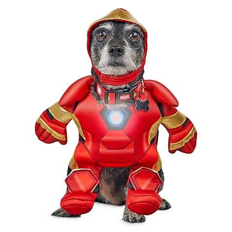 b8e2be43264 Marvel Avengers Iron Man Light Up Illusion Suit Dog Costume, X-Small