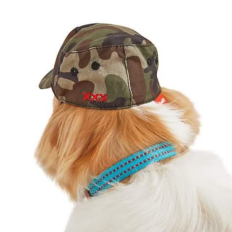 Reddy Camo Cadet Dog Hat, X-Small/Small