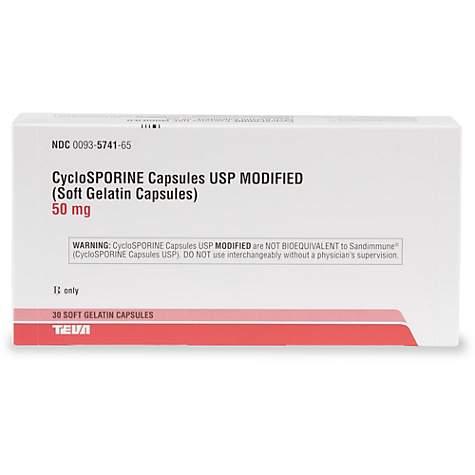 Cyclosporine 50 mg Capsules, 30 Count