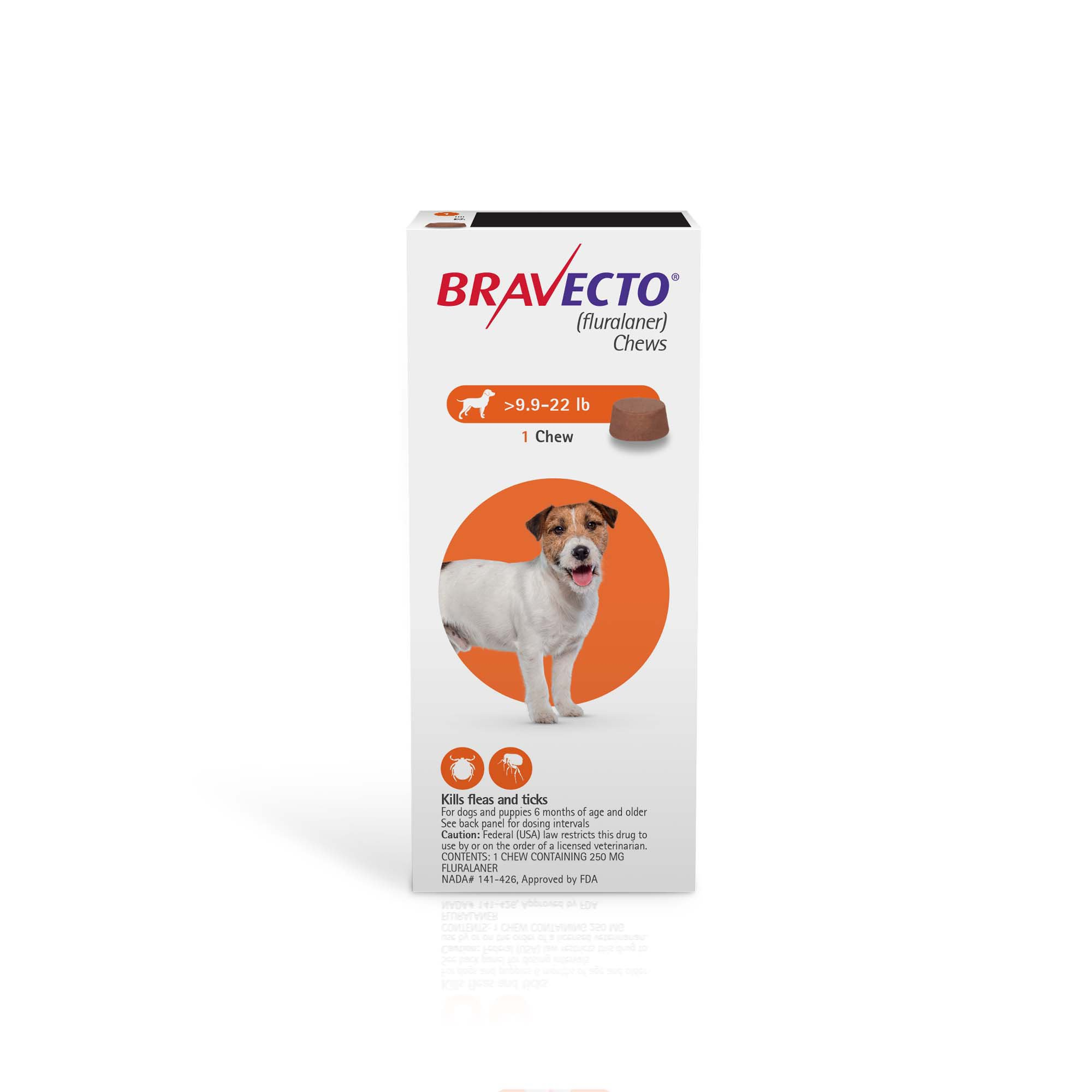 Bravecto Chews for Dogs 9 9-22 lbs , Single 12-Week Dose | Petco