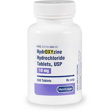 Hydroxyzine HCl 10 mg Tablets