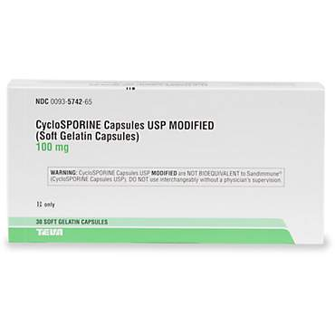 Cyclosporine 100 mg Capsules