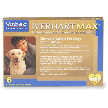 Iverhart Max Soft Chews for Dogs 50 to 100 lbs.