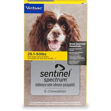 Sentinel Spectrum Chewables for Dogs 25.1 to 50 lbs.