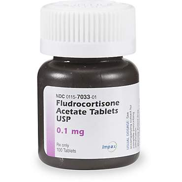 Fludrocortisone Acetate .1 mg Tablets