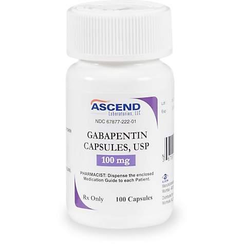 Gabapentin 100 mg Capsules, 60 Count