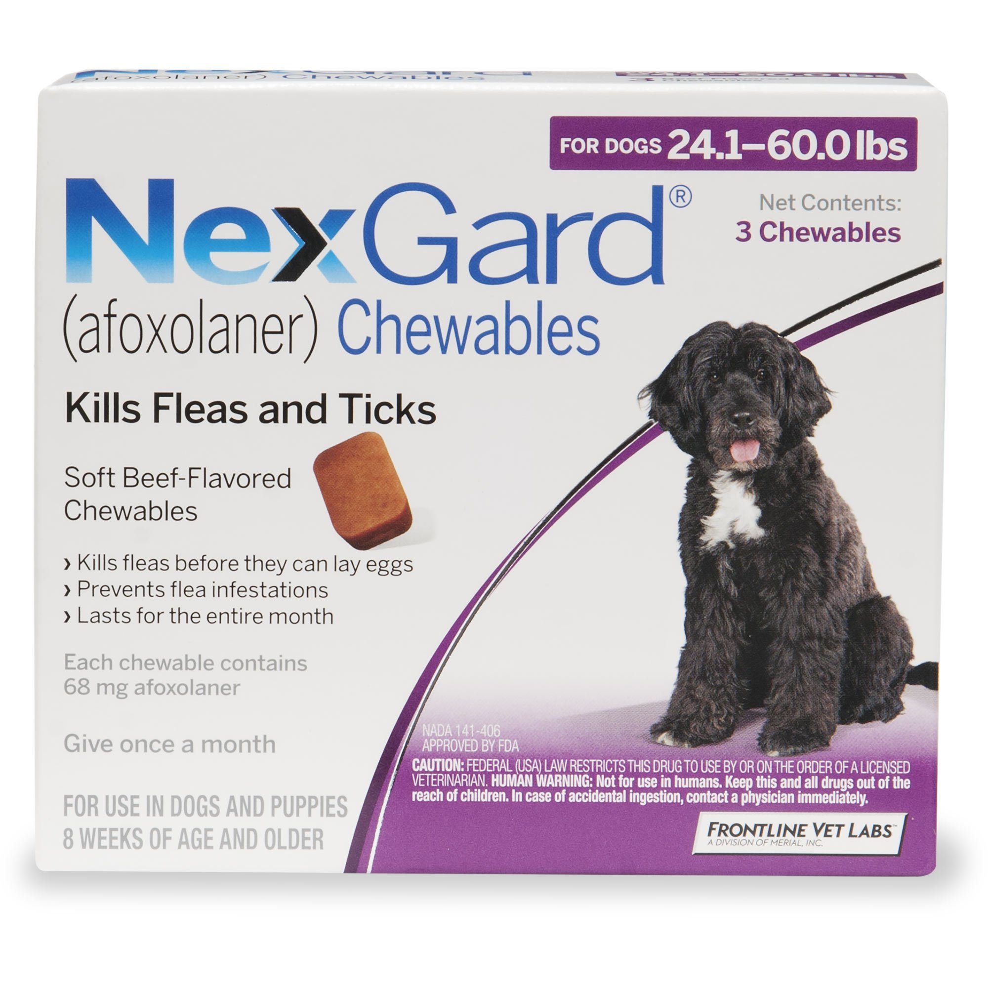 Nexgard Chewables Purple For Dogs 241 To 60 Lbs Petco