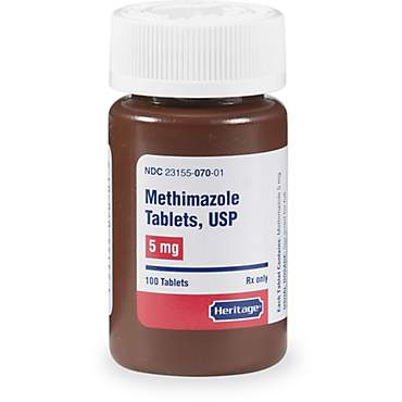 Methimazole 5 mg Tablets