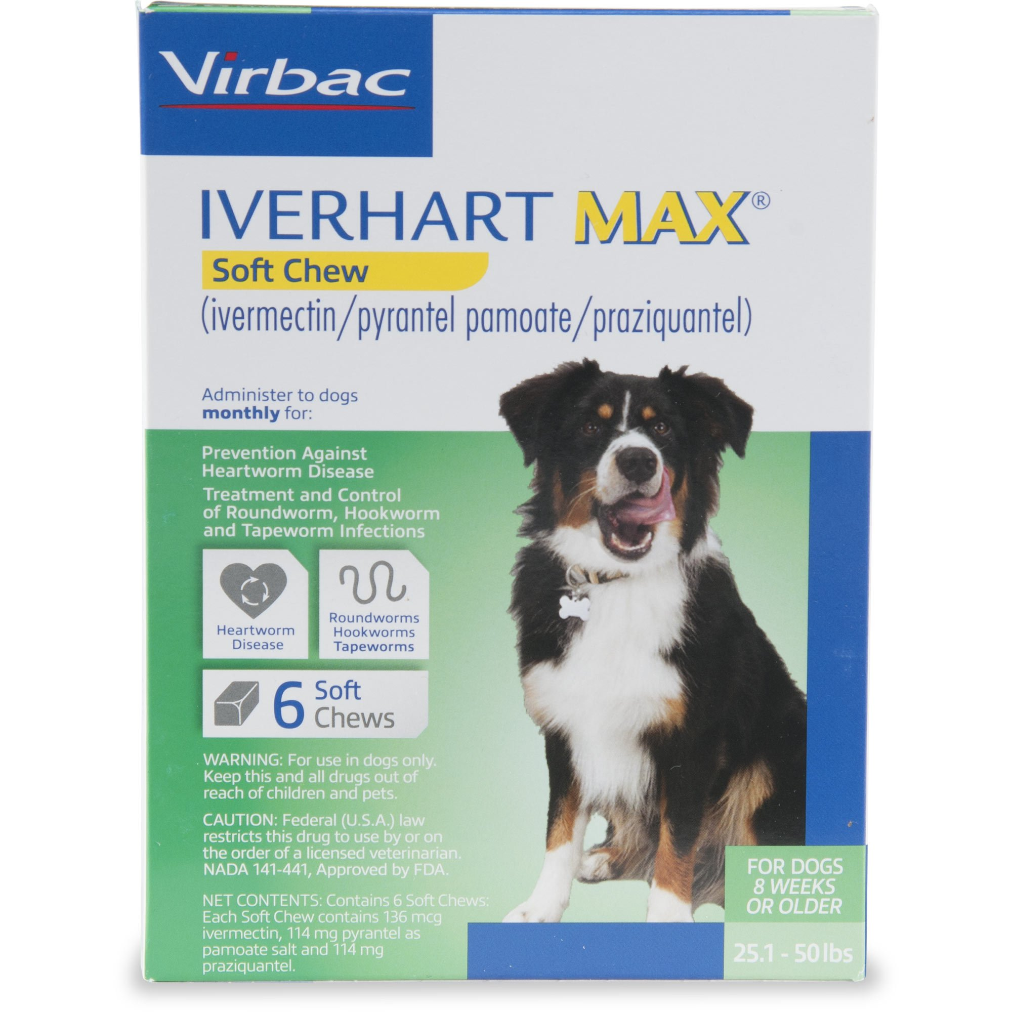 Iverhart Max Soft Chews for Dogs 25 to 50 lbs , 6 Pack | Petco