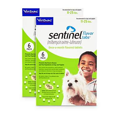Sentinel Flavor Tablets for Dogs 11 to 25 lbs.