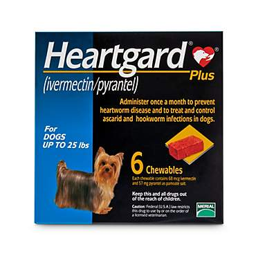 Heartgard Plus Chewables for Dogs 1 to 25 lbs.