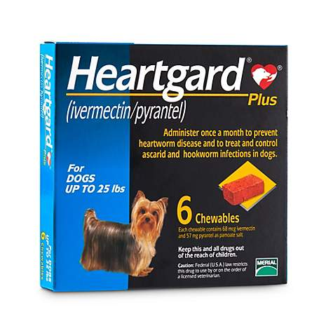 Heartgard Plus Chewables For Dogs 1 To 25 Lbs 6 Pack