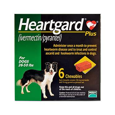 Heartgard Plus Chewables for Dogs 26 to 50 lbs.