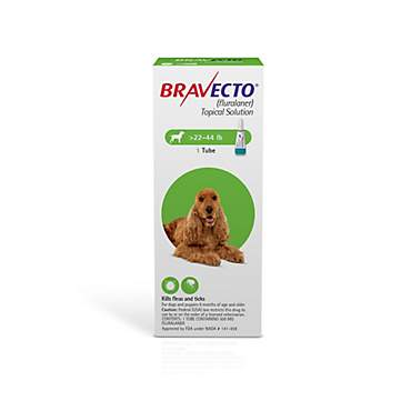 Bravecto Topical Solution for Dogs 22-44 lbs. - Green