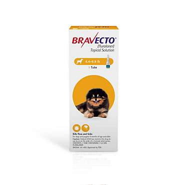 Bravecto Topical Solution for Dogs 4.4-9.9 lbs., Single 12-Week Dose