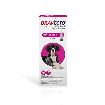 Bravecto Topical Solution for Dogs 88-123 lbs., Single 12-Week Dose