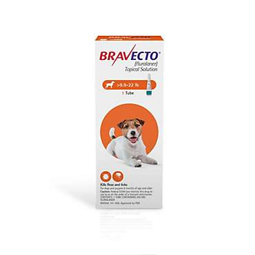 Bravecto Topical Solution for Dogs 9.9-22 lbs., Single 12-Week Dose