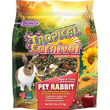 Brown's Tropical Carnival Pet Rabbit Food