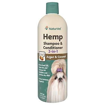 NaturVet Hemp 2-in-1 Shampoo & Conditioner for Dogs