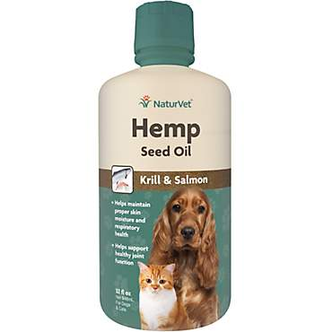 NaturVet Hemp Seed Oil, Krill & Salmon for Pets