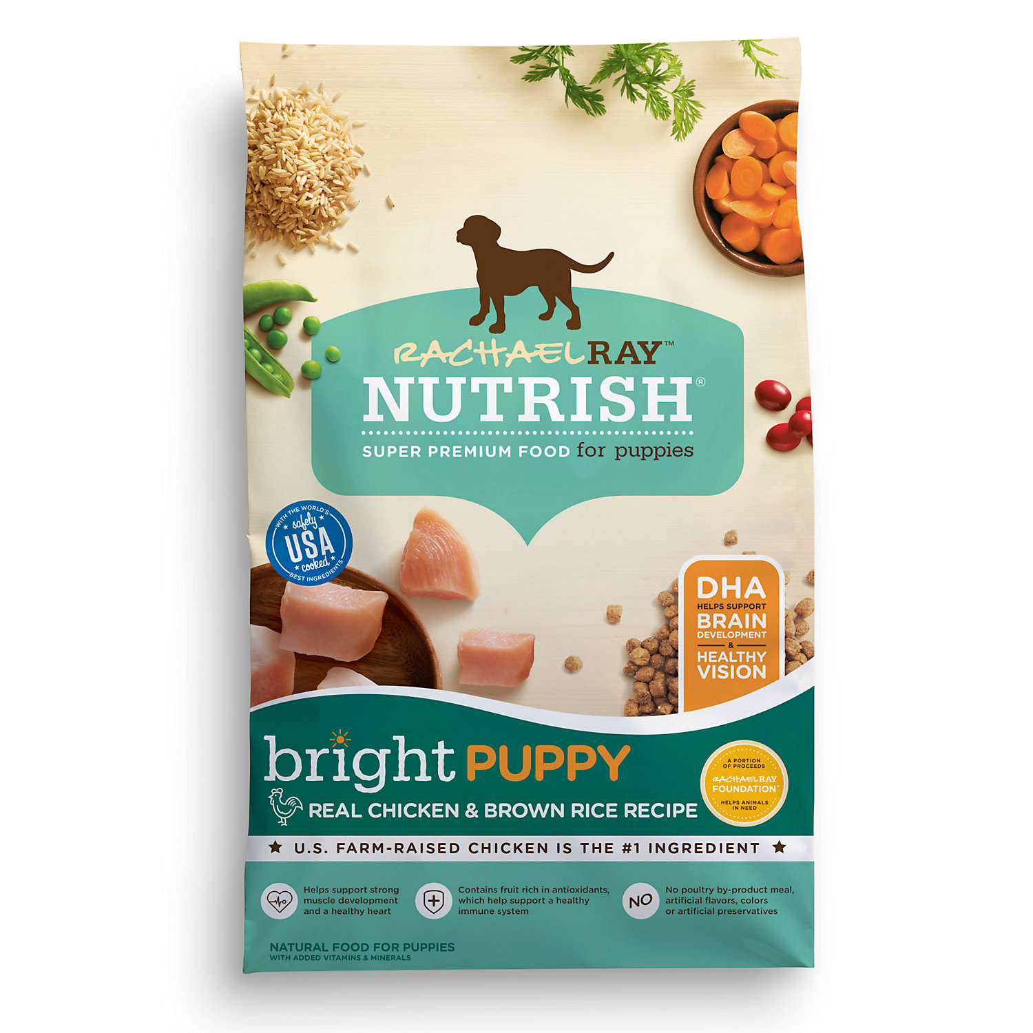 Image of Rachael Ray Nutrish Bright Puppy Natural Real Chicken & Brown Rice Recipe Dry Food, 6 lbs.